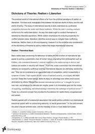 what are the strengths and weaknesses of realist approaches to  hd major essay realism v liberalism
