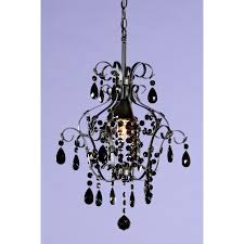 marie therese black crystal glass droplet chandelier single ceiling light
