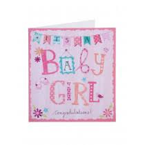 Babygirl Cards Simply Congratulations Baby Girl Card