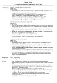 Sales Operations Manager Resume Samples Velvet Jobs