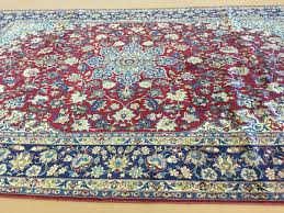 details about 10 x 15 red beige persian isfahan najafabad oriental rug oversized hand knotted