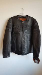 men s collar less leather jacket