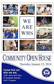 Westside High School Open House Flyer School Ish Ism Open House