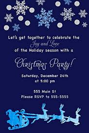 White Christmas Invitations Amazon Com 30 Invitations Christmas Party Navy Blue Watercolor