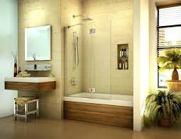 modern bathtub shower combo large small enclosed tub and seamless surround combination door