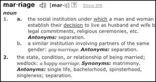what s in a word marriage equality activists aim at the  marriage equality activists aim at the dictionary