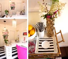save the pink and white office of leah remillet love the l desk shape
