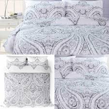 grey duvet covers soha paisley ethnic bohemian bright quilt cover bedding sets