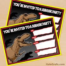 Jurassic Park Invitations Free Printable Jurassic Park T Rex Birthday Invitation