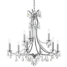 crystorama cedar 9 light polished chrome chandelier