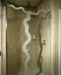 how to install glass shower door hinges on tile