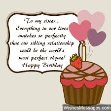 Quotes For Sister Birthday Simple Birthday Wishes For Sister Quotes And Messages WishesMessages