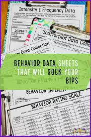 Daily Behavior Charts For Autistic Students Behavior Data Sheets That Will Rock Your Bips Autism