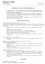 System Administrator Resume Example Examples Of Resumes