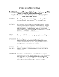 Examples Of Resumes Formats Different Types A Resume Intended