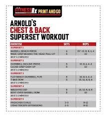 Arnold Exercise Chart Pin De Joe Boris En Weight Training Arnold Workout Arnold