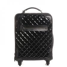 CHANEL Vinyl Calfskin Quilted Trolley Rolling Luggage Black 82321 &  Adamdwight.com