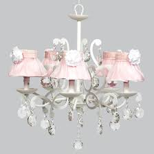 elegance chandelier with pink silk shades