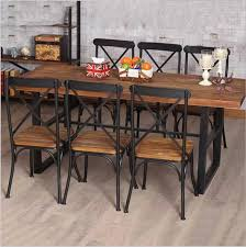 Wrought iron and wood furniture Patio Cheap American Country Retro Wood Furniture Wrought Iron Table In The Restaurant The Family Dinner Table Dinette Combination Fe Online With 13669piece Dhgatecom Cheap American Country Retro Wood Furniture Wrought Iron Table In