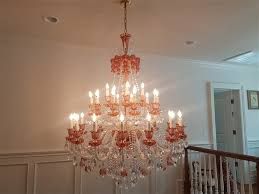 fontana arte chandelier cleaning glasses were removed cleaned and installed back fifth ave nyc