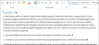 Word Document Mla Format How To Automatically Format An Existing Document In Word 2013