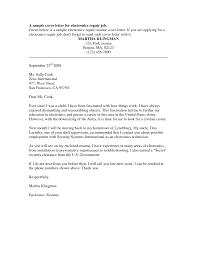 Electronic Technician Cover Letter Sarahepps Com