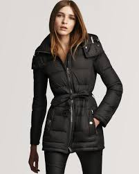 lyst burberry brit down puffer coat in black
