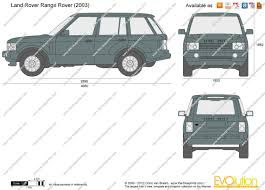 The-Blueprints.com - Vector Drawing - Land Rover Range Rover