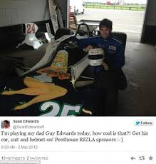 sean edwards said brakes did not feel right day before he died  mr edwards played his father f1 driver guy edwards in rush and is pictured