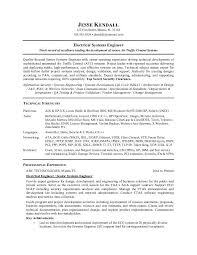 free electrical systems engineer resume example