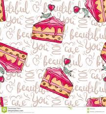 Illustration Sans Couture De Modèle De Gâteaux Romantiques Avec Des