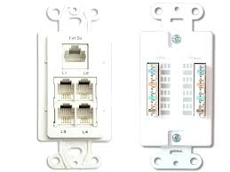 eagle phone jack wall plate white surface mount hanger modular 4 plug port telephone