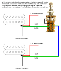 double humbucker wiring diagram double image double humbucker coil tap push pull guitar mods taps on double humbucker wiring diagram