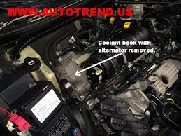 coolant elbows leaking 3800 pontiac gm chevy 3 8 liter v6 engine if you follow the heater hoses into the coolant block which is more or less a bracket that holds the alternator you can get a look at them