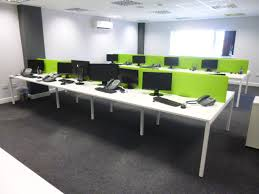 lime green office. White Bench With Metal Slim Line Pedestals 009 Lime Green Office
