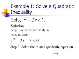quadratic equation inequalities jennarocca