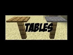 how to make tables in minecraft