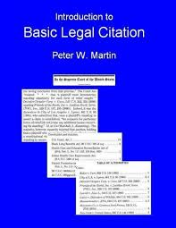 Introduction To Basic Legal Citation Access To Law Home