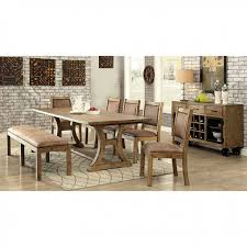 gianna transitional style rustic pine finish dining table set transitional style dining room r65 dining