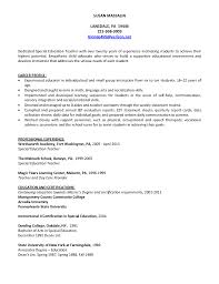Special Education Teacher Resume Physical Education Teacher Resume Continuing Education Instructor 52