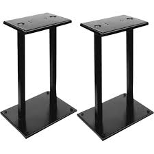pyle pro pstnd18 heavy duty steel quad support bookshelf monitor speaker stand