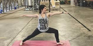 yoga and beer every saay at 1 00