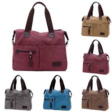 Designer Canvas Crossbody Bag Us 11 5 25 Off Women Canvas Messenger Bags Female Crossbody Bags Solid Shoulder Bag Fashion Casual Designer Female Handbag Large Capacity Tote In
