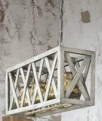 rectangular hay loft chandelier