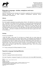 Figurative Language Chart Printable Figurative Language Similes Metaphors And More Pages 1