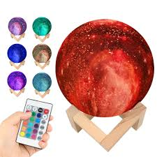 Homestar Aqua Light Us 19 85 27 Off Kids Gift 15cm 3d Print Starry Sky Magic Star Moon Galaxy Planet Rechargeable Lamp 7 Colors Night Light For Christmas Gift Cf758 In