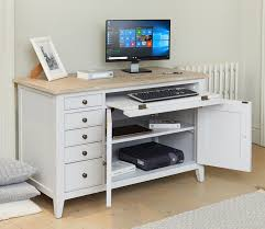 hidden home office. signature grey hidden home office desk