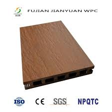 waterproof asa pvc co extruded hollow outdoor wood plastic composite wpc deck floor