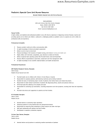 Nursing Resume Template Free Mesmerizing Pediatric Nurse Resume Free Resume Templates 48