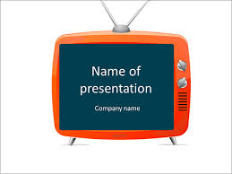 tv powerpoint templates title of presentation in analog tv powerpoint template backgrounds